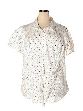Worthington Short Sleeve Button-Down Shirt Size 3X (Plus)