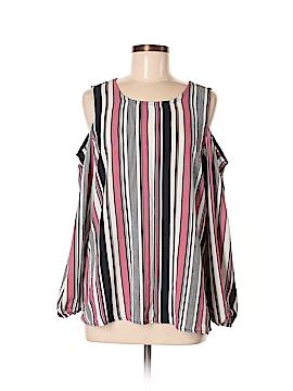 Bobeau Long Sleeve Blouse Size M