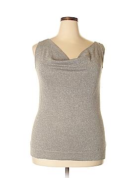 Alfani Sleeveless Silk Top Size 1X (Plus)