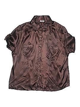 Kaelyn-Max Short Sleeve Button-Down Shirt Size 3X (Plus)