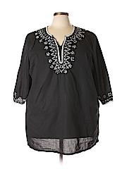 Chelsea Studio Women 3/4 Sleeve Blouse Size 2X (Plus)
