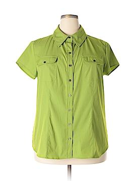 Como Short Sleeve Button-Down Shirt Size 1X (Plus)