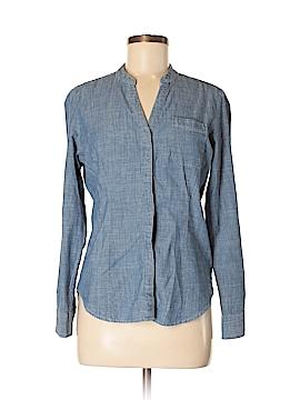 Dockers Long Sleeve Button-Down Shirt Size M (Petite)