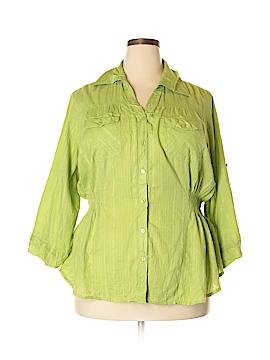 Ashley Stewart 3/4 Sleeve Button-Down Shirt Size 2X (Plus)