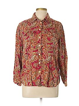 Lizwear by Liz Claiborne Long Sleeve Button-Down Shirt Size M