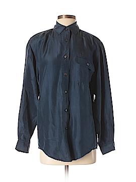 Studio Long Sleeve Silk Top Size S