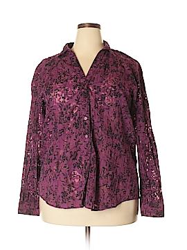 Tantrums Long Sleeve Button-Down Shirt Size XXL