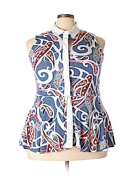 PREMISE Sleeveless Button-Down Shirt Size XL