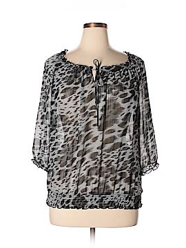I.N. Studio Short Sleeve Blouse Size XL