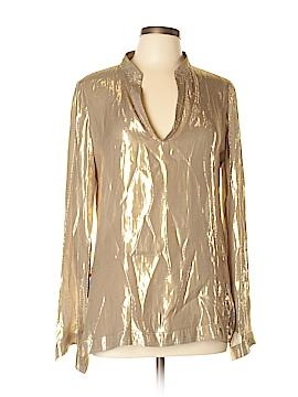 Tory Burch Long Sleeve Silk Top Size 12