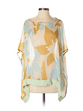 Diane von Furstenberg Short Sleeve Silk Top Size S (Petite)