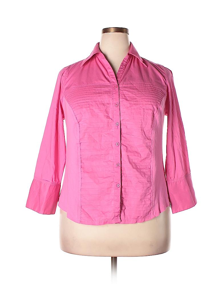 c64dfb1e7 Pin it Pin It Button Zac & Rachel Women 3/4 Sleeve Button-Down Shirt Size 1X  (Plus
