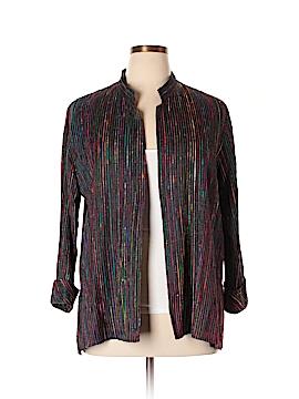 Caroline Rose Silk Blazer Size L