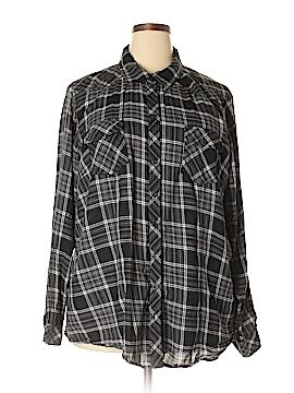 Torrid Long Sleeve Button-Down Shirt Size 4X Plus (4) (Plus)