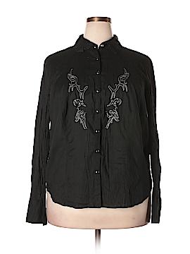 Harley Davidson Long Sleeve Button-Down Shirt Size 1X (Plus)