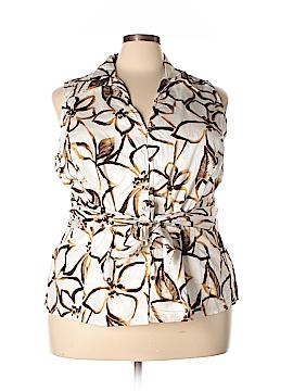 Jones New York Signature Sleeveless Button-Down Shirt Size 3X (Plus)