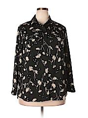 Marybelle Women Long Sleeve Blouse Size 1X (Plus)