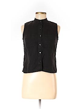 Amanda Smith Sleeveless Button-Down Shirt Size 6 (Petite)