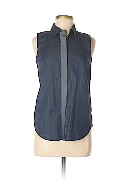 Reed Sleeveless Button-Down Shirt Size XS