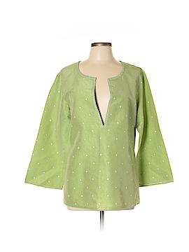 Debra deRoo Long Sleeve Silk Top Size M