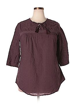 Ruff Hewn 3/4 Sleeve Top Size 1X (Plus)