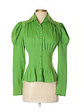 Bebe Long Sleeve Button-Down Shirt Size M