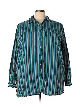 Silhouettes Long Sleeve Button-Down Shirt Size 3X (Plus)