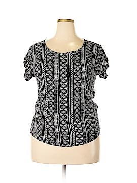 Pink Republic Short Sleeve Blouse Size XL