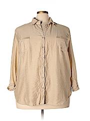 DressBarn Women 3/4 Sleeve Blouse Size 3X (Plus)