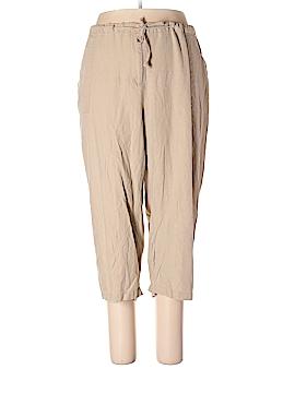 Jessica London Linen Pants Size 24 (Plus)