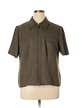 Plaza South Short Sleeve Blouse Size 18 (Plus)