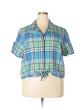 Fashion Bug Short Sleeve Button-Down Shirt Size 22 - 24 (Plus)