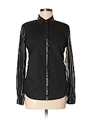 Edun Women Long Sleeve Button-Down Shirt Size S