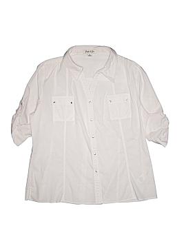 Jennifer & Grace 3/4 Sleeve Button-Down Shirt Size XL