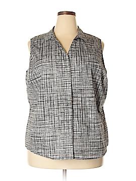 Worthington Sleeveless Button-Down Shirt Size 3X (Plus)