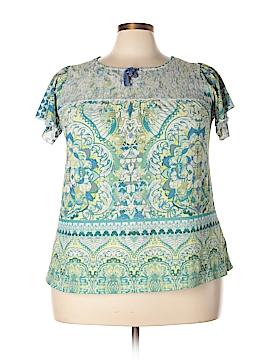 Energe World Wear Short Sleeve Top Size 1X (Plus)