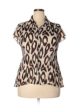 Essentials Short Sleeve Blouse Size XL