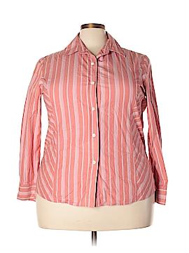 Studio Long Sleeve Button-Down Shirt Size 2X (Plus)