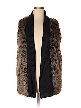 Signature Studio Faux Fur Vest Size 1X (Plus)
