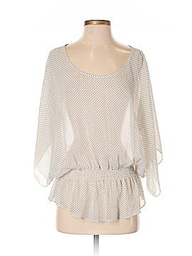 Ella Moss Short Sleeve Silk Top Size S