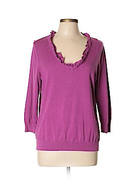 Amber Sun Silk Pullover Sweater Size L