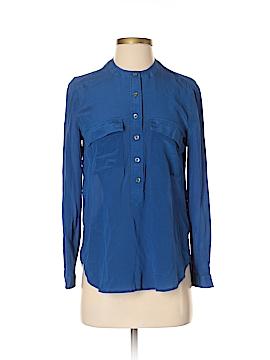 Gap Long Sleeve Silk Top Size S (Petite)