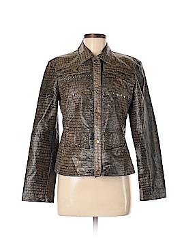 Nancy Bolen City Girl Faux Leather Jacket Size S