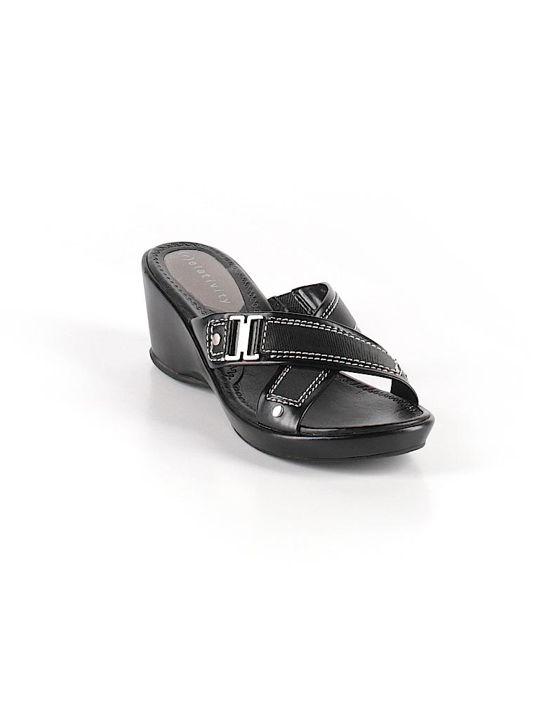82cb20b3029c04 Relativity Solid Black Wedges Size 9 - 68% off