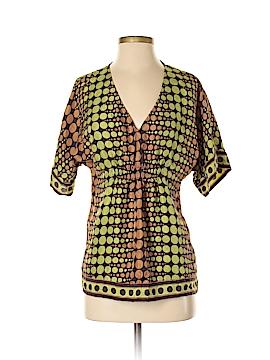 Michele Michelle Short Sleeve Silk Top Size S