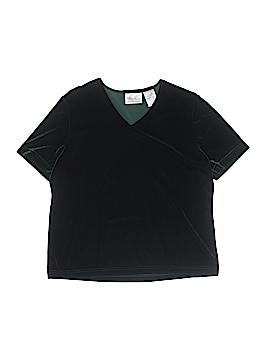 Kathie Lee Short Sleeve Blouse Size L
