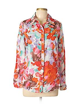 Coldwater Creek Long Sleeve Button-Down Shirt Size Lg(14)