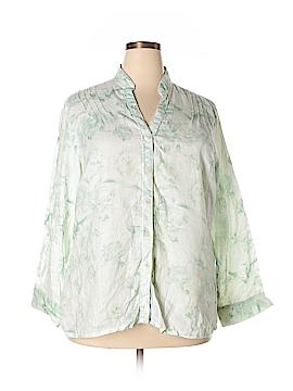 Rafaella Long Sleeve Button-Down Shirt Size 18 (Plus)