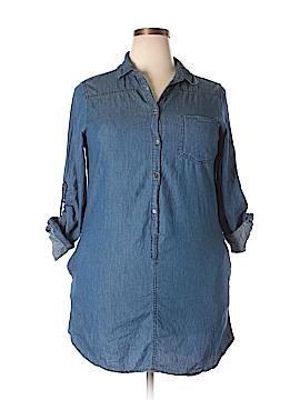 Noble U Short Sleeve Button-Down Shirt Size 2X (Plus)