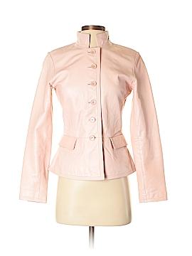 Margaret Godfrey Women Faux Leather Jacket Size 2 (Petite)